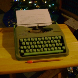 This Hermes Rocket portable typewriter was a gift from my friend, Keith.
