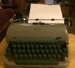 This is the 1952 Remington that once belonged to my grandmother, and then has been mine since about 1973 (click to embiggen).