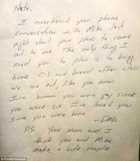 Michigan dad put his son's fears about coming out to rest with this loving letter.