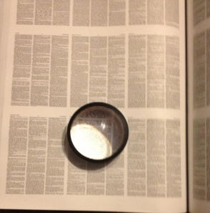 My biggest dictionary with the magnifier