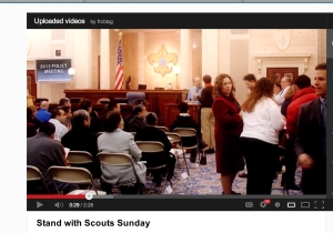 "A frame from the Family Research Council ""Stand With Scouts"" video."