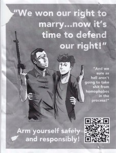 Marriage rights equal gun rights poster