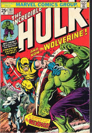 A comic book cover featuring Wolverine and the Hulk