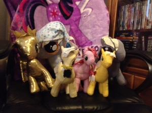 A collection of the rag doll ponies.