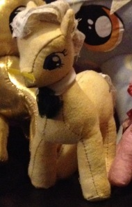 Cropped picture of prototype pony doll.