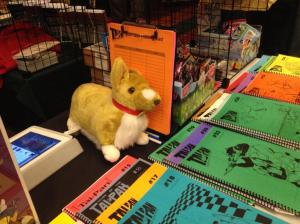 A toy dog, fanzines, and toy ponies.