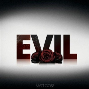 The word evil and a rose.