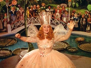 Image of Glinda the Good from the Wizard of Oz.