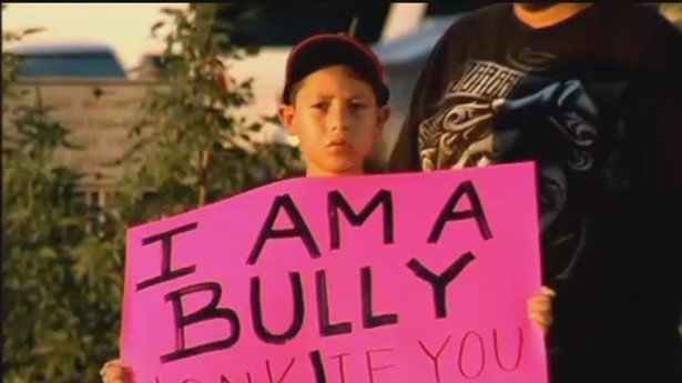 ... pink 'I am a bully' sign on Texas ... Girl Holding Fire Tumblr