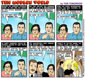Tom Tomorrow sums up the anti-marriage arguments.