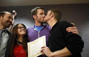 First gay couple legally married in Utah.