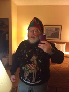 Picture of me in Christmas sweater.