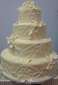 A classic wedding cake.