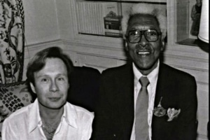 Bayard Rustin and his long time partner, Walter Naegle.