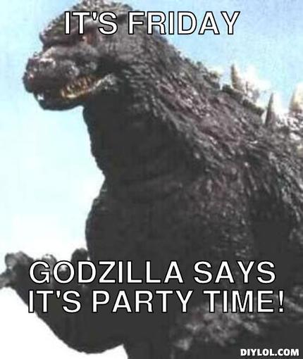 Godzilla Quotes: Go! Go! Godzilla (and Friday Links)!