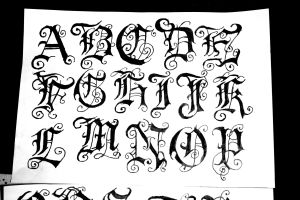 What most people think a gothic font looks like.