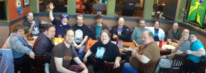 A whole bunch of people joined us for a birthday dinner.