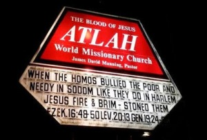 Pastor Manning is once again misquoting the Bible to bash gay people.