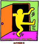National Coming Out Day logo, designed by artist Keith Haring.