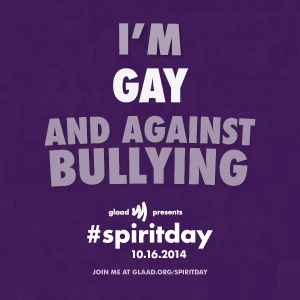 Find out how to go purple at http://glaad.org/spiritday