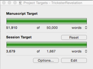 I love this little project targets widget in Scrivener!