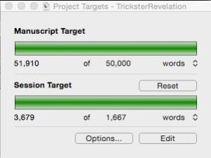 I love this little project targets widget in Scrivener!