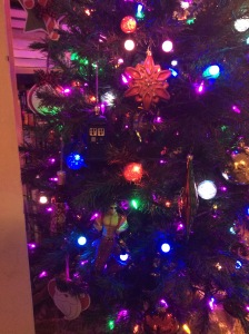 Some of the retro and glittery ornaments.
