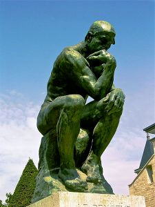 Rodin's 'The Thinker.' Photo by Andrew Horne at en.wikipedia [Public domain], from Wikimedia Commons