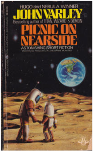 Cover of the paperback edition of on of Varley's anthologies which included the story in question.