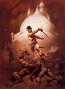This Frank Frazetta painting, a cover for a John Carter of Mars paperback, hung on my bedroom wall throughout high school and college.