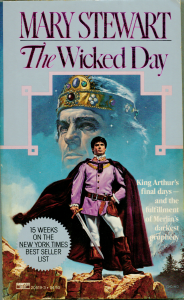 A scan of my own copy of The Wicked Day, by Mary Stewart, purchased back in 1983. (Click to embiggen)