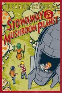 "The cover of the second book, ""Stowaway to the Mushroon Planet."""