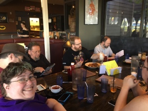 One side of the table during my birthday get-together at AFK Tavern.