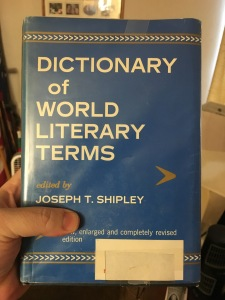 One of the presents my hubby got me. Another dictionary!