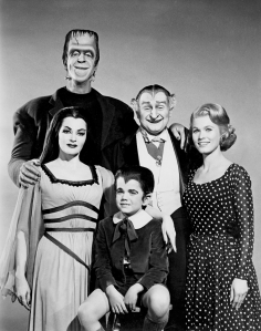 Promotional photo for the Munsters,