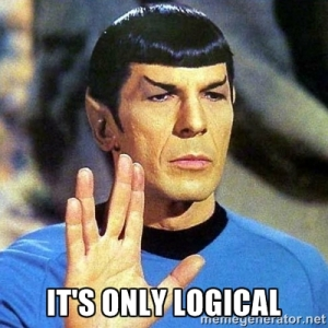 """It's only logicial,"" Spock says."
