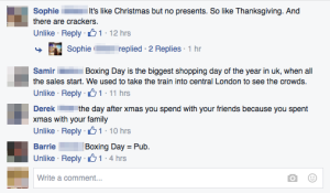 Some explanations of Boxing Day.