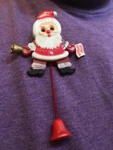 Great-aunt Noriko's Santa pin.