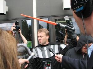 Hateful annoyance and perpetual iniative-sponsor Tim Eyman filing his anti-gay referendum when he took a break from his eternal assault on the state's general fund in 2006.