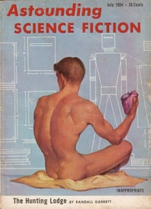 Cover, Astounding Science Fiction, July 1954.