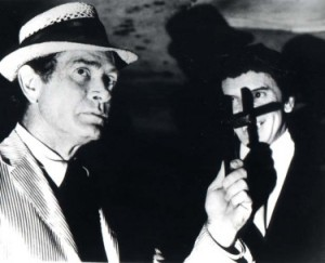Darren McGavin and Barry Atwater in a still from The Night Stalker television movie © 1972 American Broadcasting Company