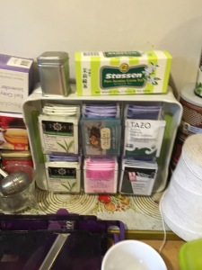 Fuzzy phone picture I took shortly after moving about 14 boxes of tea into this organizer.
