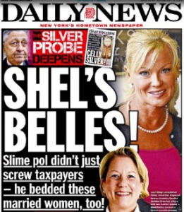 New York Daily News front page breaking the scandal