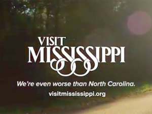 """Visit Mississippi, where """"We have an oppressive law to match our oppressive heat,"""" says Funny or Die."""
