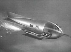 A silver rocket from the classic Flash Gordon serials.