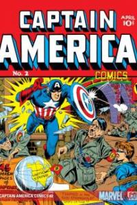 In case the message wasn't clear in issue #1, the creators of Captain America, Joe Simon and Jack Kirby, had Cap attacking Hitler on the cover of the second issue of the comic, as well.