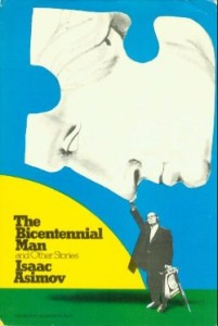 Cover for the first edition hardback of <em>The Bicentennial Man and Other Stories</em> by Isaac Asimov.