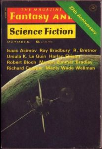Cover of the October, 1976 issue of the Magazine of Fantasy and Science Fiction, cover by Chesley Bonestell.