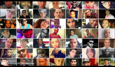 Victims killed in Pulse in Orlando three months ago.