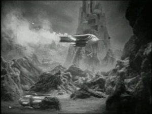 A scene from the 1938 serial, Flash Gordon's Trip to Mars, © Universal Studios.